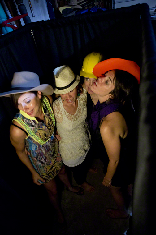 the ladies in the photobooth
