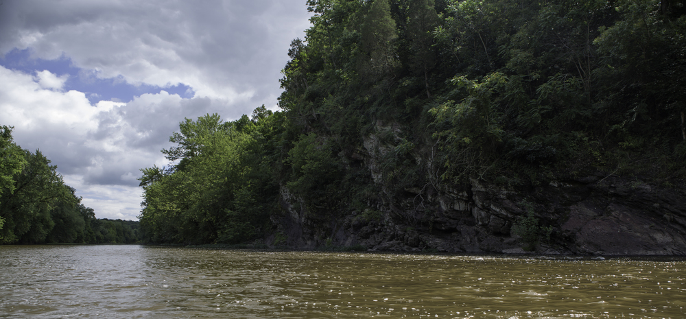 a bluff on the monocacy water trail