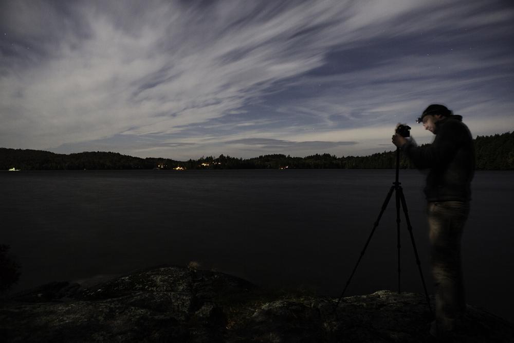 frank shooting some night skies