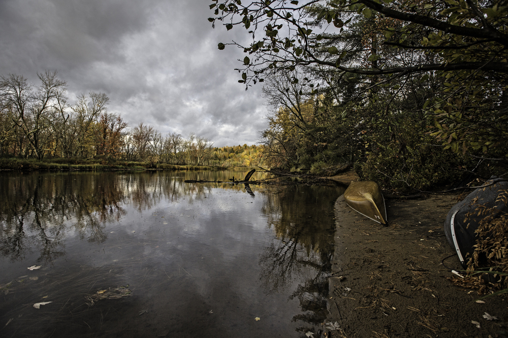 morning on the raquette river, right before the rain set in for the day