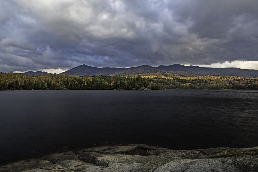 view from the last campsite - moose pond