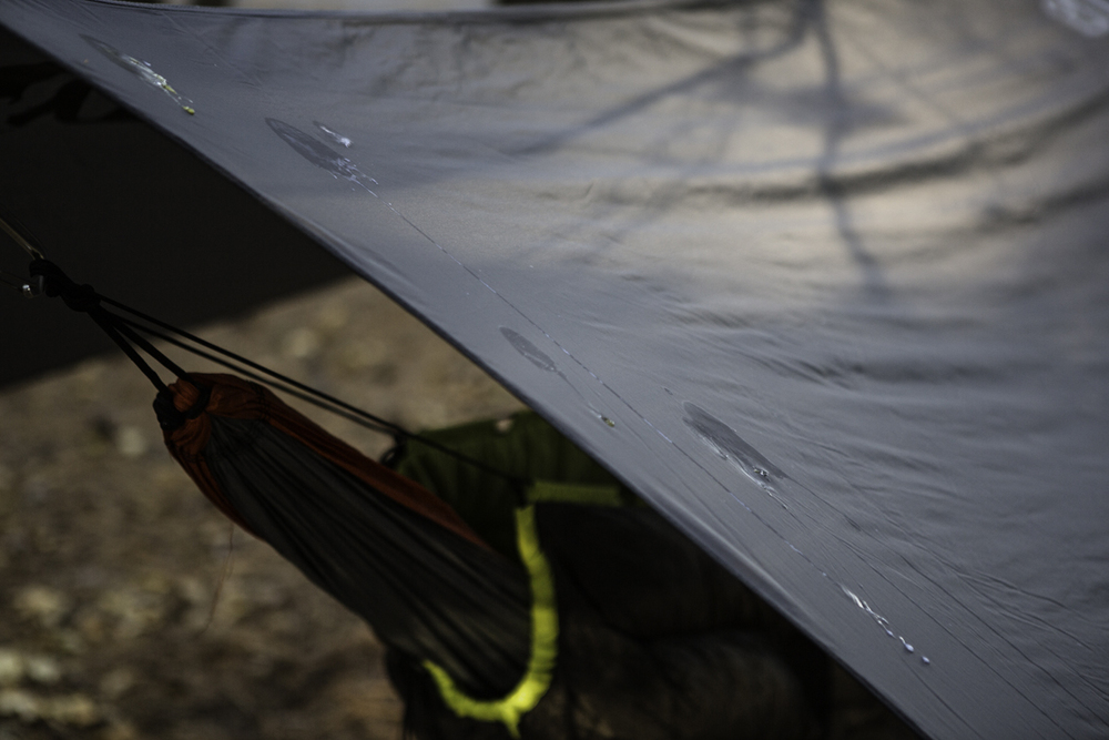 A great reason to set up your tarp, even if it isn't going to rain, bird dookie.