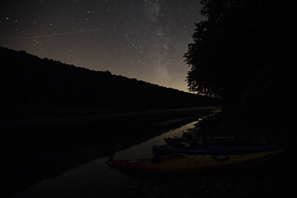 Some milky way action along the river on the first night.