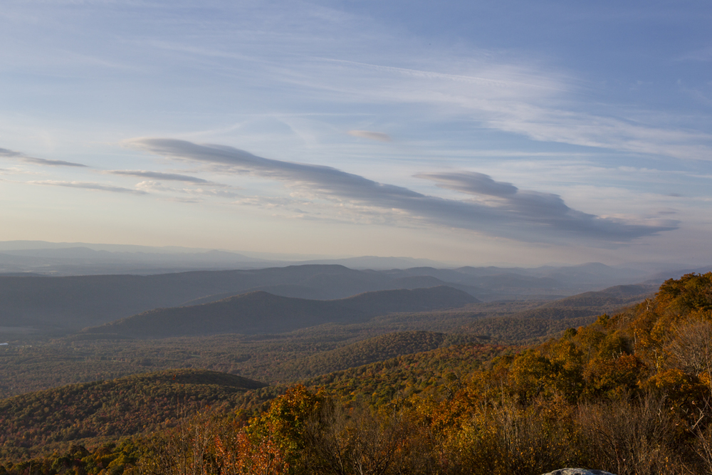 Fall colors from Dan's Rock Overlook.