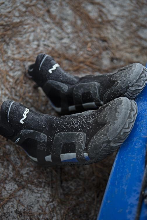 Frank's frosty footwear.