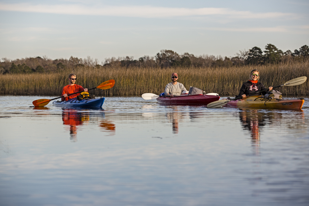 Sunshine and tidal paddling, the best of the low-country.