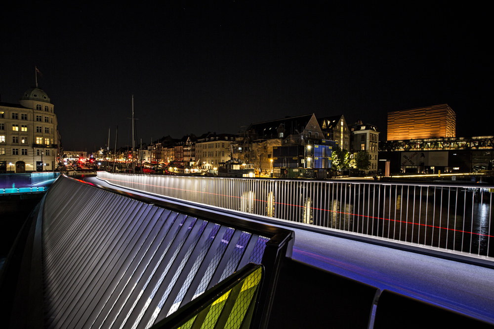 Nyhavn, as seen from the newly completed Inderhavnen bridge.