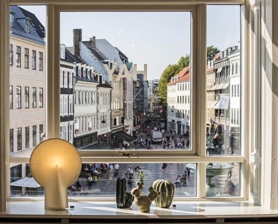A view of Amager Square from the windows of HAY House.