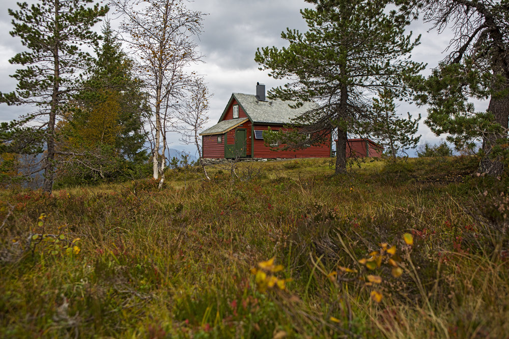 Rosett Cabin, part of the DNT system for hiking trails in Norway.  Any one can rent/ and stay in these cabins.