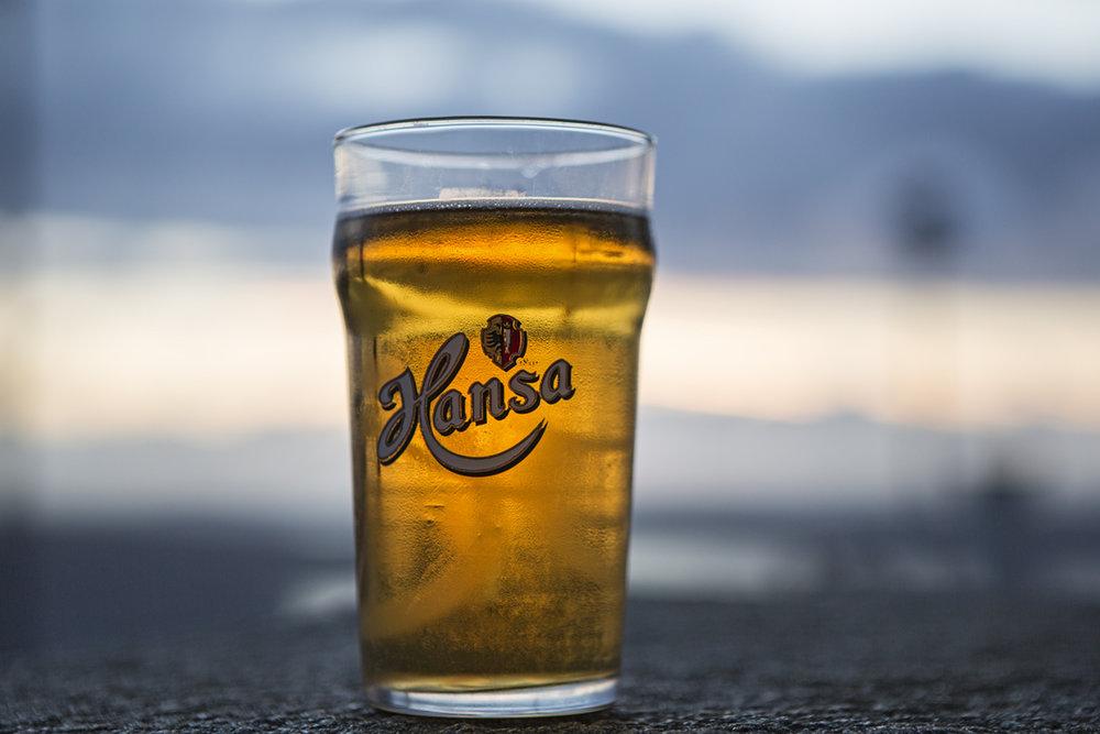 Delicious booze at Mt. Floyen.