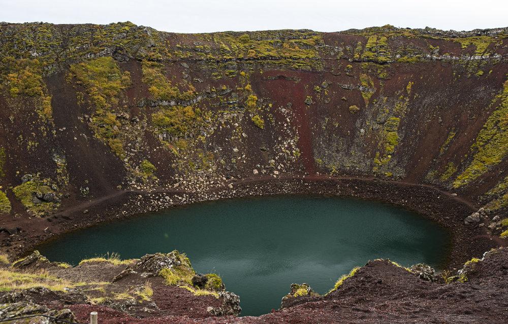 Kerid crater.