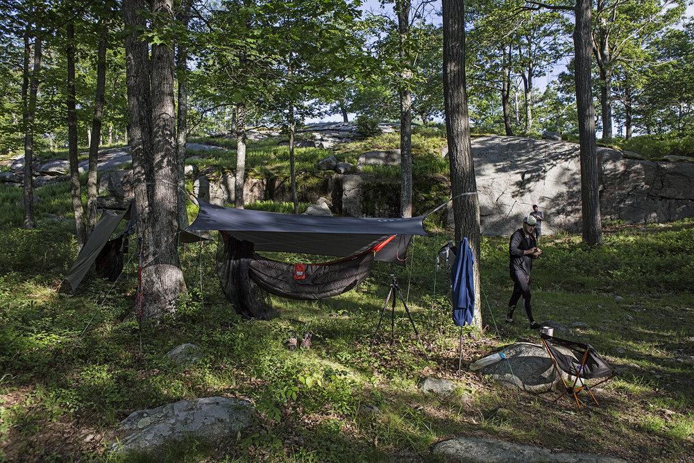 Camp at Fingerboard Mountain.