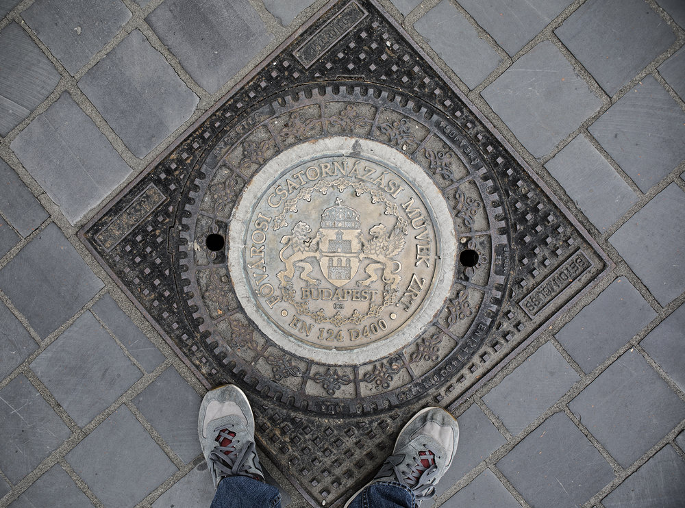 Budapest's sewer covers are well designed, something the US is missing.