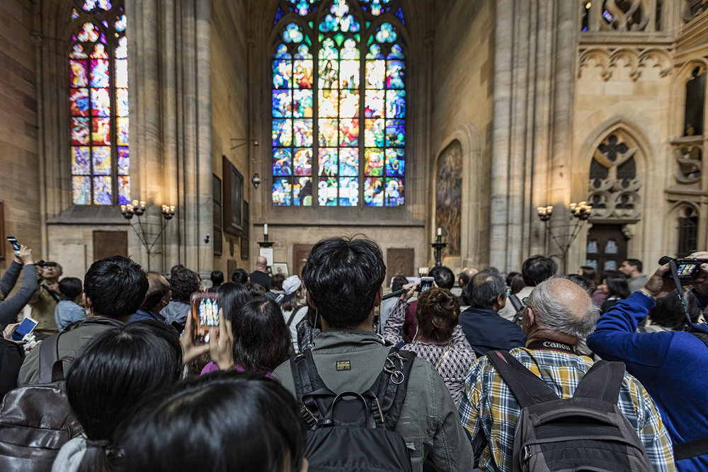 This is what is was like inside the cathedral. Pushing your way through tourists is a necessary skill - these folks had zero awareness of personal space.