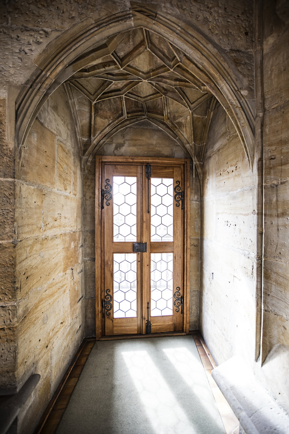 A doorway in the old Royal Palace.