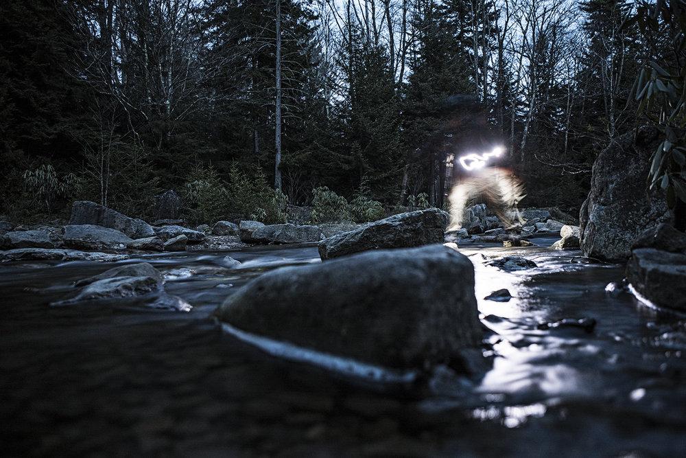 Late night creek crossings.