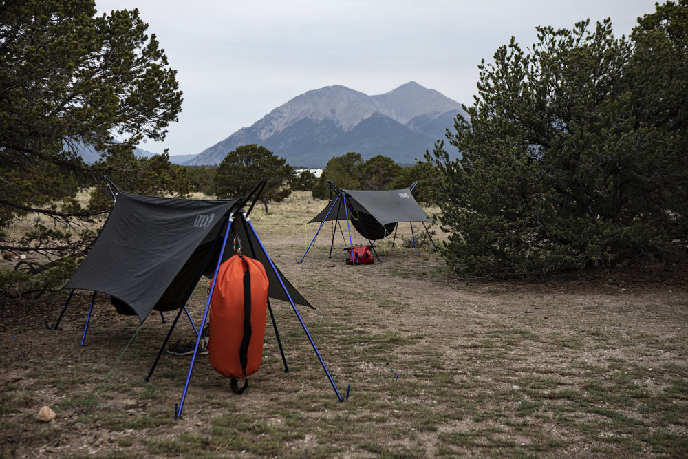Dry run set up of our self modified hammock stands (modified to support a tarp), which I received from ENO in exchange for some photography of them in the Grand Canyon. These are where Jim and I hung our heads, and gear, every night along the Colorado river, and it was amazing. You'll be seeing a lot more of these in the future posts about this trip.