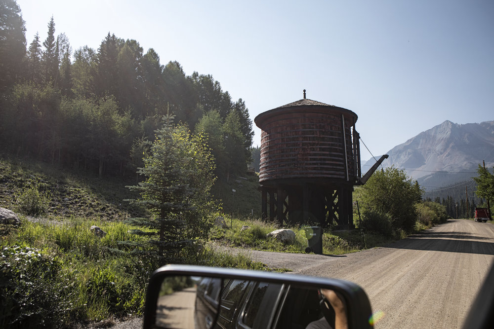 A water tank from the Rio Grande Southern Railroad, built in the 1890's.