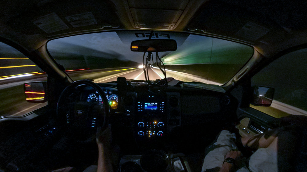 Entering ludicrous speed (spaceballs) sometime around 330 AM on I-70 in Kansas