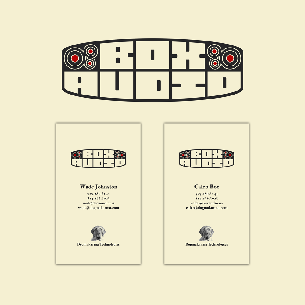 Box Audio Logo & Business Cards