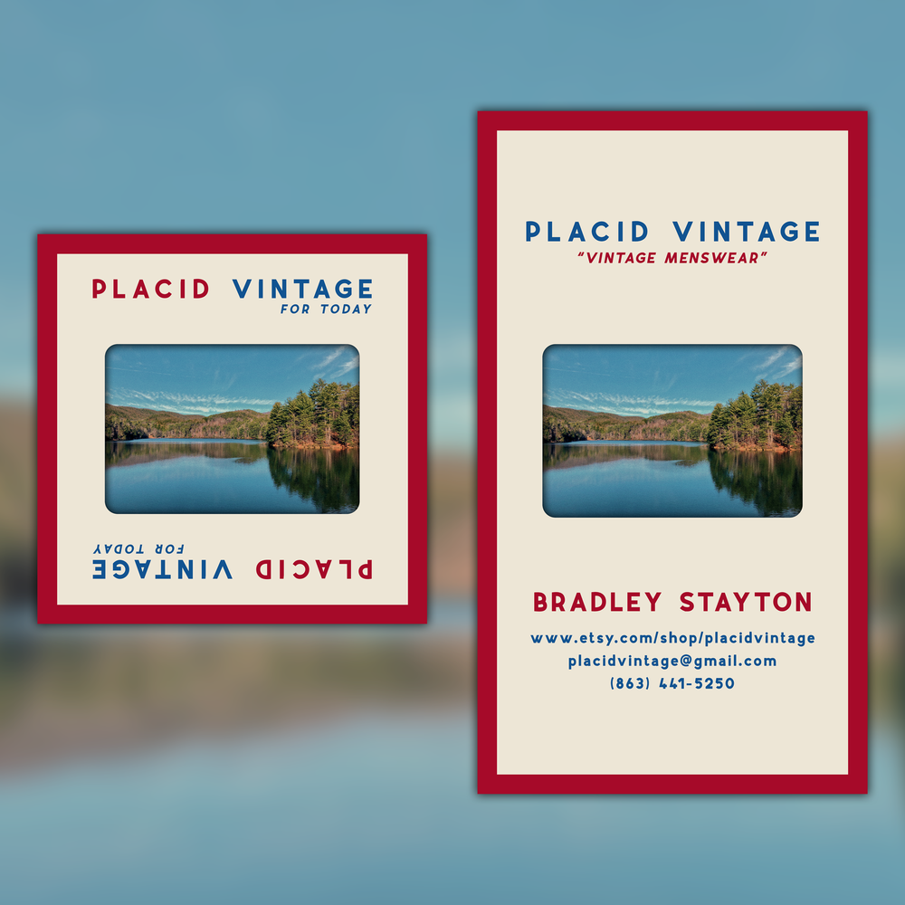 Placid Vintage Logo & Business Card