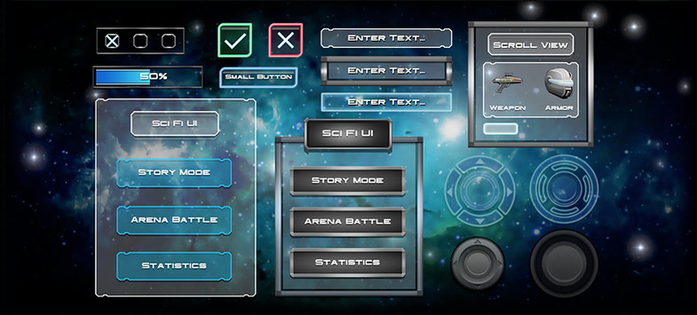 Sci-Fi UGUI Pack - Unity Asset Store