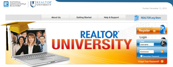 Realtor University Website