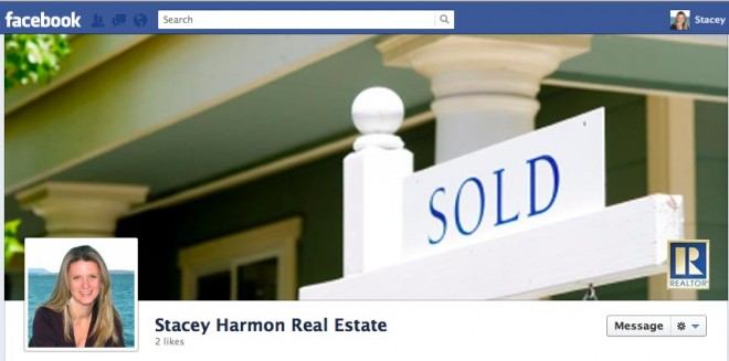 Facebook Real Estate Business Page Example