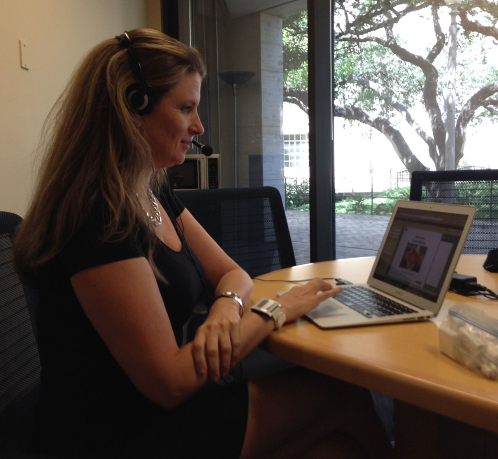 Stacey Harmon at McCombs presenting her webinar