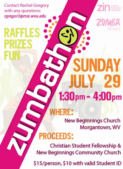 Zumbathon Flyer A zumbathon with all proceedsZumbathon Flyer