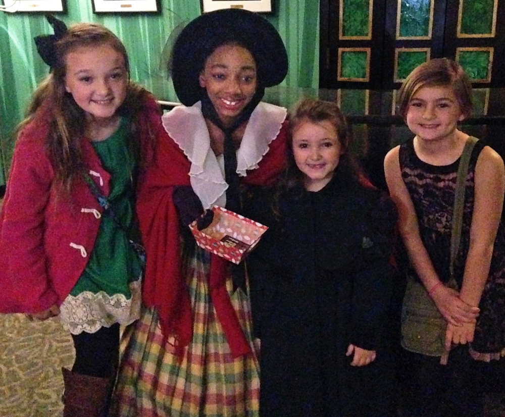 White Station students recently attended a performance of A Christmas Carol and were excited to see their own Claudia-Ruthie!