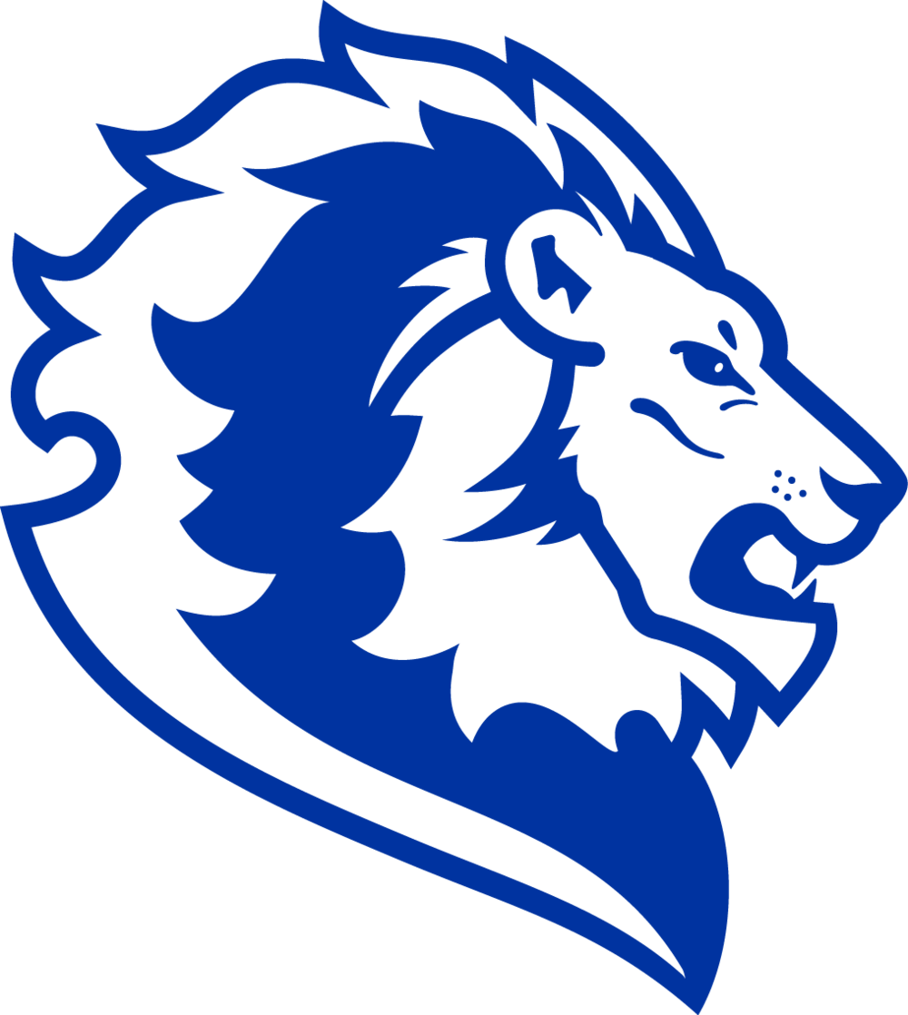 Blue lion logo with crown - photo#23