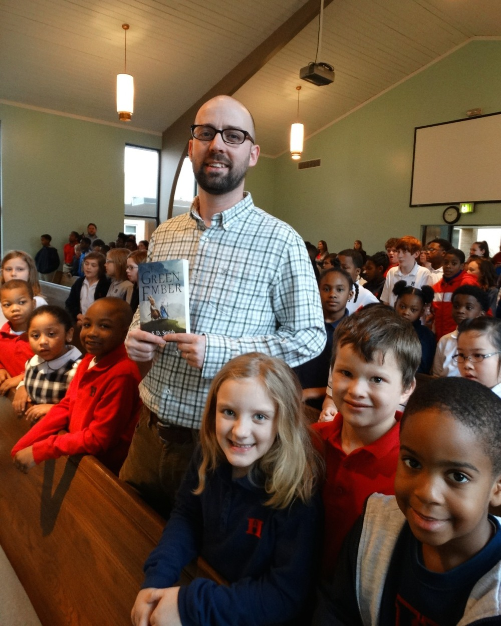 Sam Smith spoke to Harding White Station students in chapel. God has given everyone a special purpose and talent. He is the author of the Green Ember.