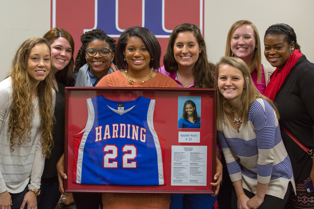 We loved having so many alumni on campus as we retired Kaylah Keys' #22 basketball jersey (especially these teammates from the 2010 State Championship team)!