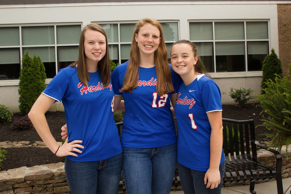 Congratulations to the following varsity softball players who were named to the 2015 All-District Team (L-R) Kelsi Elkins, Kayley Underwood, Sarah Coleman, and Grace Thurmond (not pictured).  Honorable mention went to Emily Coleman and Melissa King.