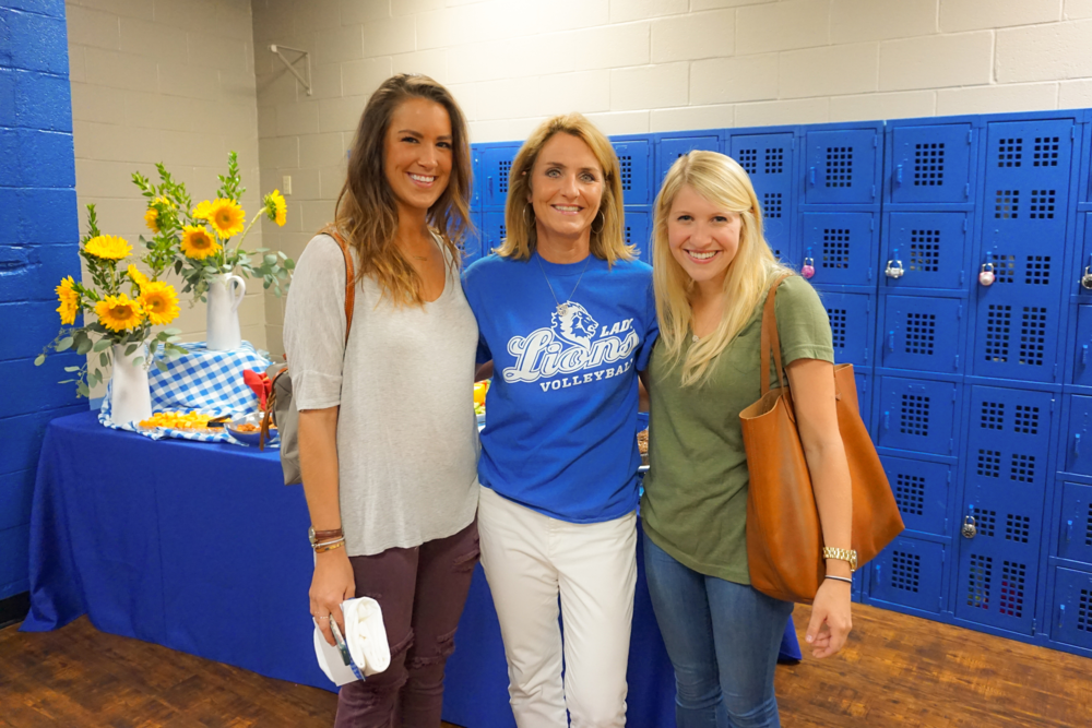 Lindsey Allison ('09); Lisa Greer, Director of Alumni Relations; and Stephanie Wadlington ('09)