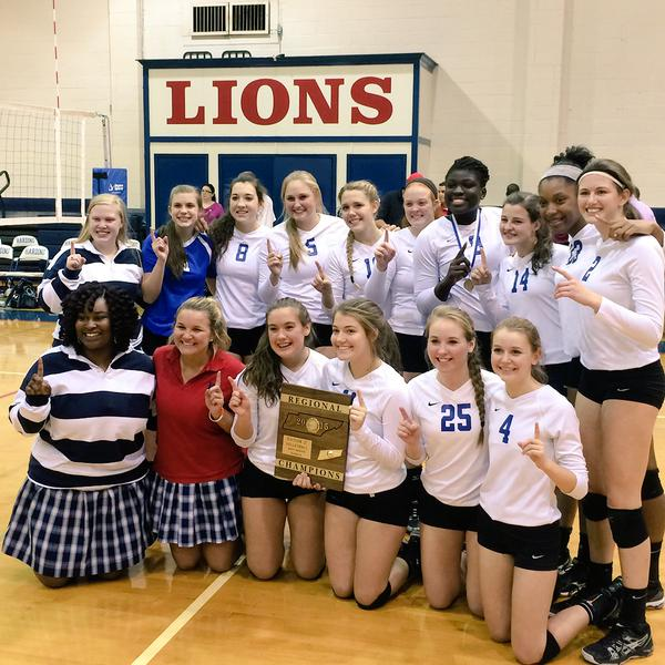 Our 2015 Region Champions - The Lady Lions!