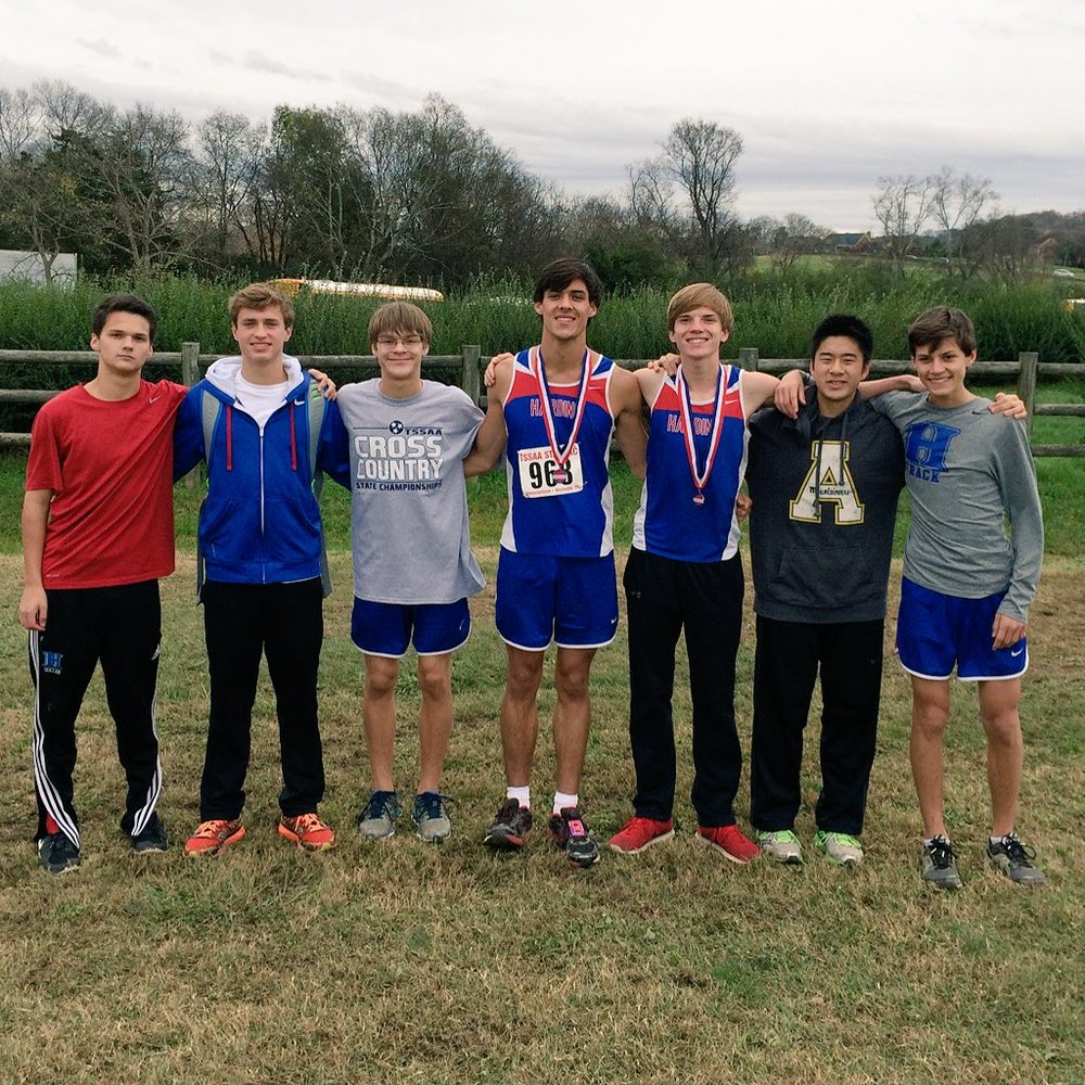 The boys team placed 4th at State. Clayton Sharp, Robbie Machen, and Josh Hinkle led the team.