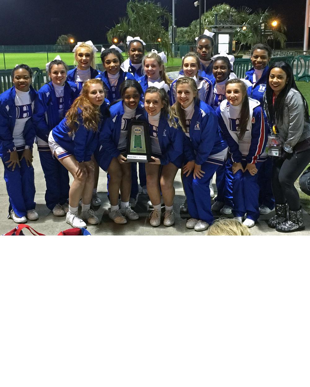 Varsity cheer team places 4th at Nationals