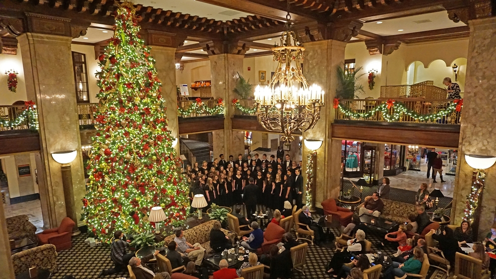 A Cappella Christmas concert Peabody Hotel 2015