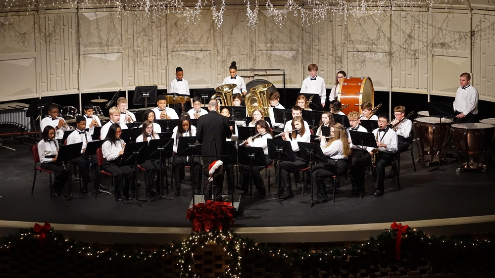 Junior Concert Band All Bands Christmas Concert
