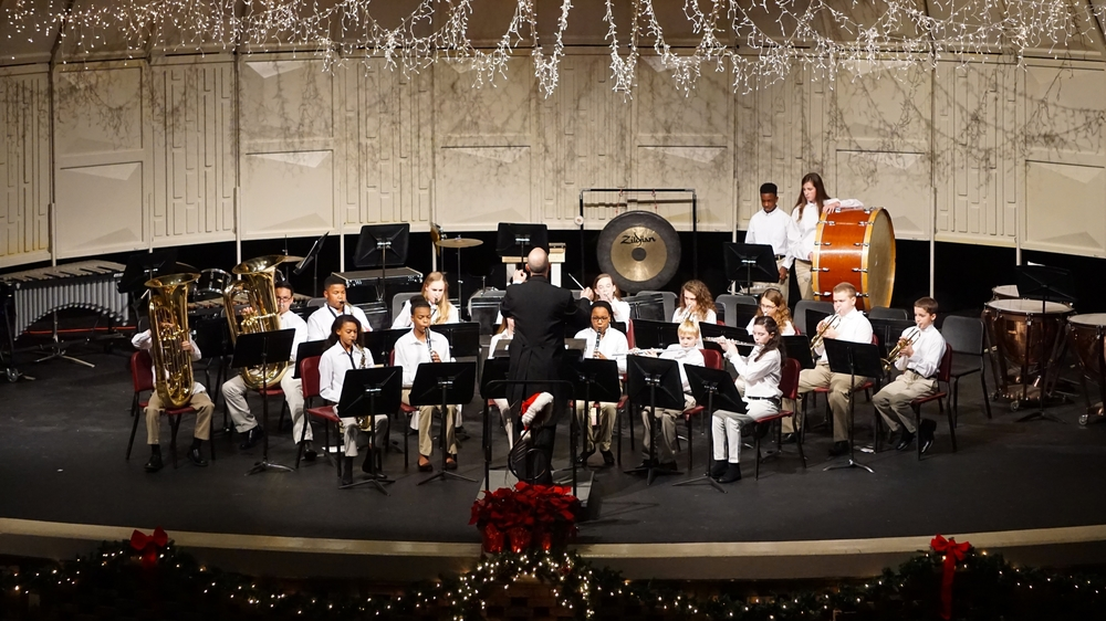 Beginner Band All Bands Christmas Concert 2015