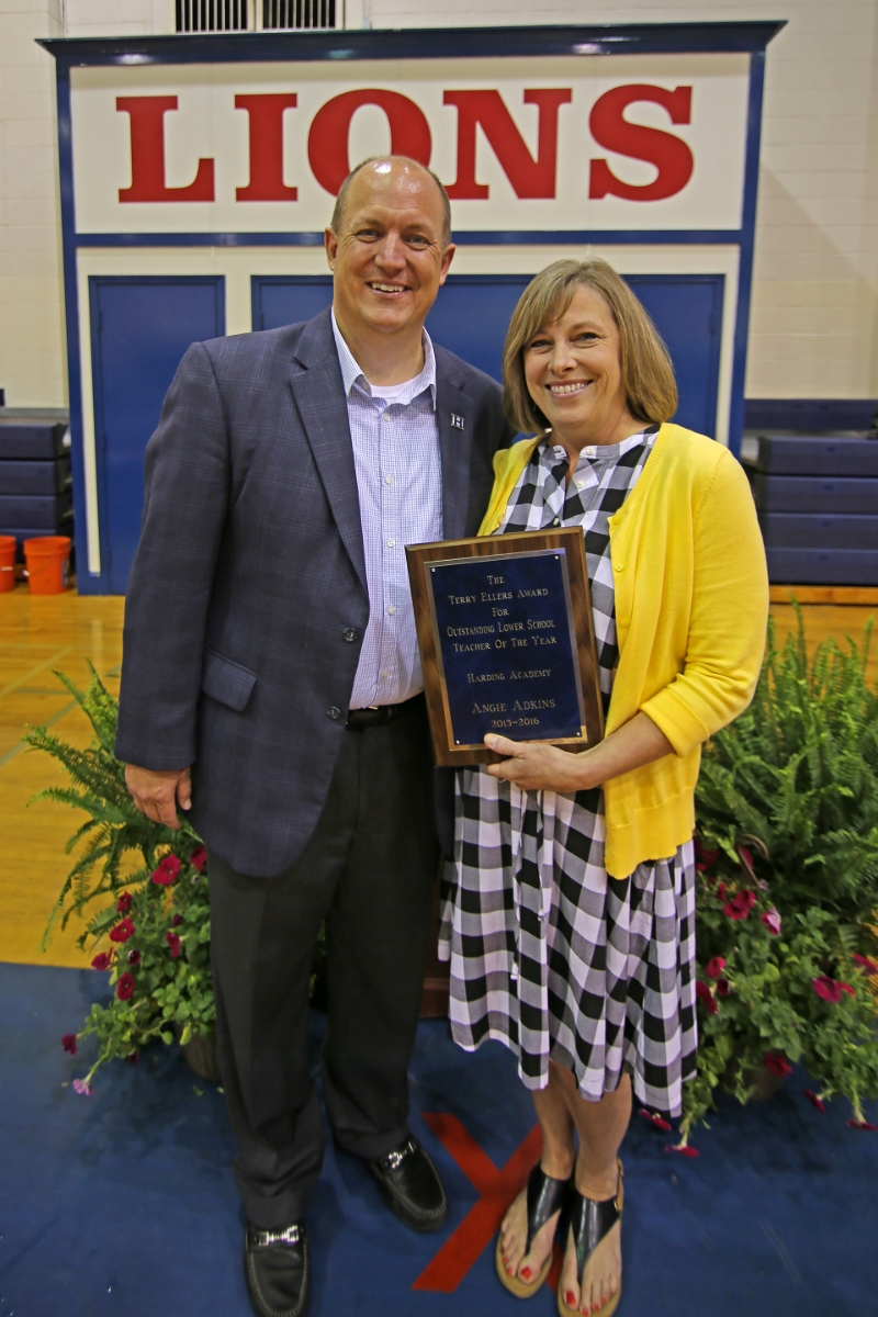 Angie Adkins—The Terry Ellers Award for Outstanding Lower School Teacher of the Year