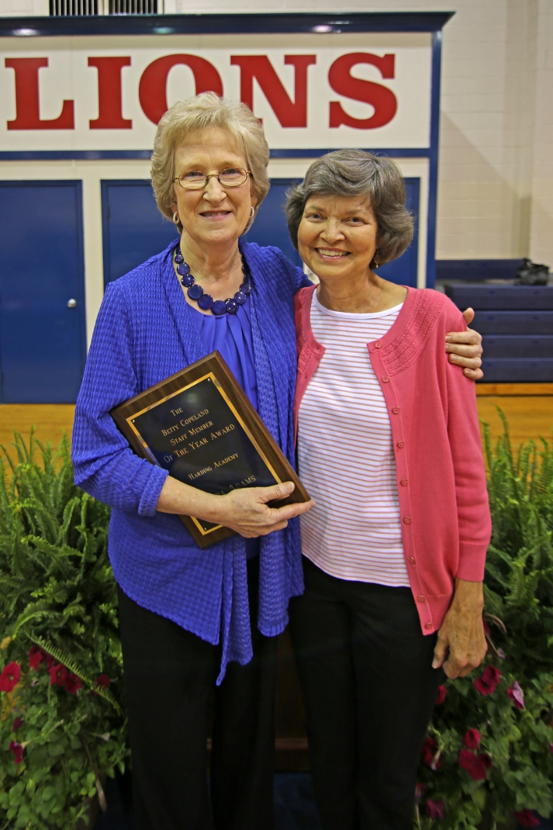 Linda Adams—The Betty Copeland Staff Member of the Year Award