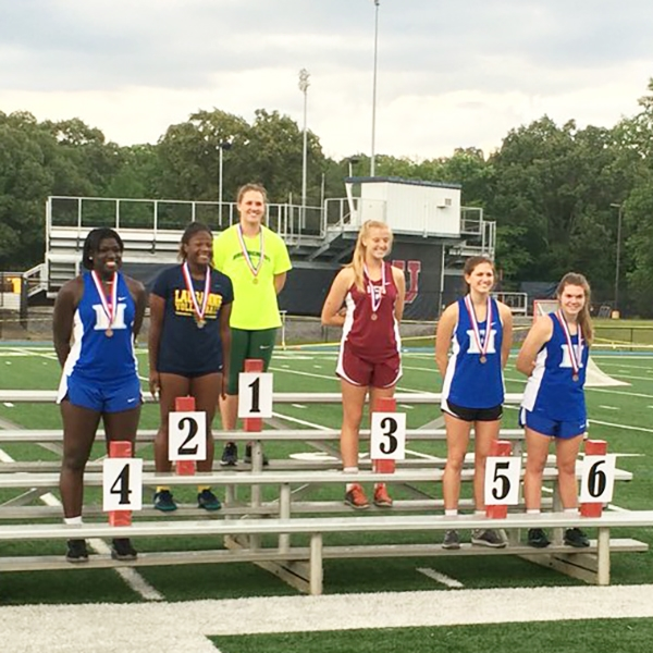 Antoinette Lewis, Lauren Deaton, and Carley Rhoads all placed in discus at the Region Championships.