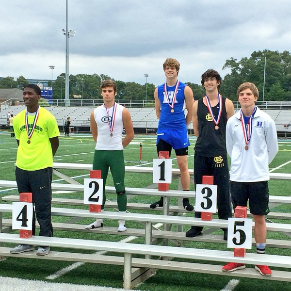 Ty Kimberlin is the Region Champ in triple jump & heads to STATE. Clayton Sharp finished 5th.