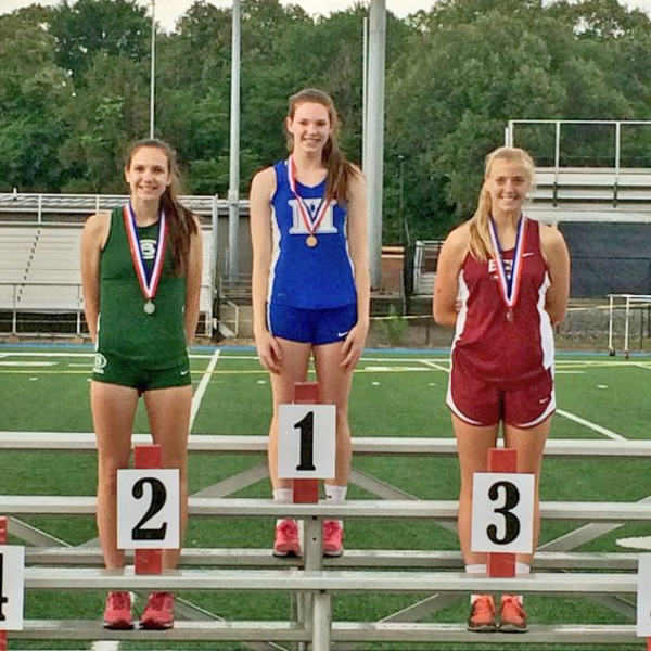 Sarah Luttrell won the Region Championship in high jump and advanced to STATE!