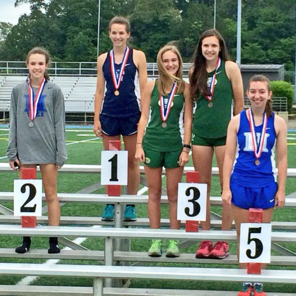 Abigail Howell and Hayley Ford finished 2nd and 5th in the pole vault. Abigail advanced to STATE.