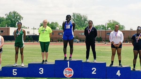 Antoinette Lewis is the 2016 State Champion in the shot put!