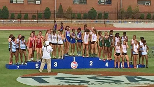 Imani Harris, Nia Bowley, Abigail Howell, and Cami Bea Austin are the 2016 State Champions in the 4x200!